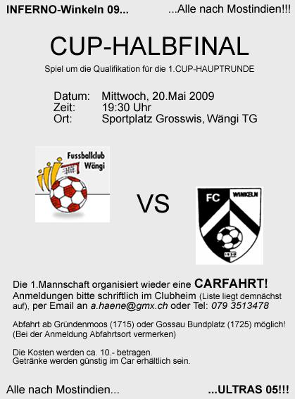 Cup Halbfinal