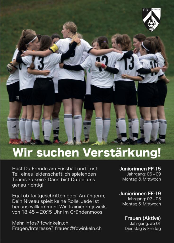 Flyer Juniorinnen FF-15 FC Winkeln